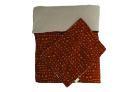Dami duvet and pillow cover  hearts siena - Heart of Gold