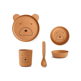 Bamboo box set bear mustard - Liewood