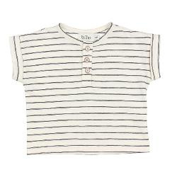 T-shirt graphite stripes
