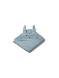 Augusta towel hooded rabbit sea blue liewood