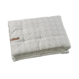 Play blanket cozy dots of white
