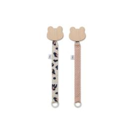 Sia pacifier straps leo beige beauty - Liewood