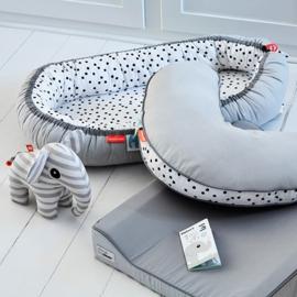 Cozy nest happy dots grey