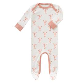 Pyjama met voet lobster coral