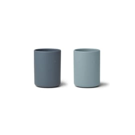 Ethan silicone cups 2pack blue mix