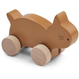 Elena wood toy Cat mustard - liewood