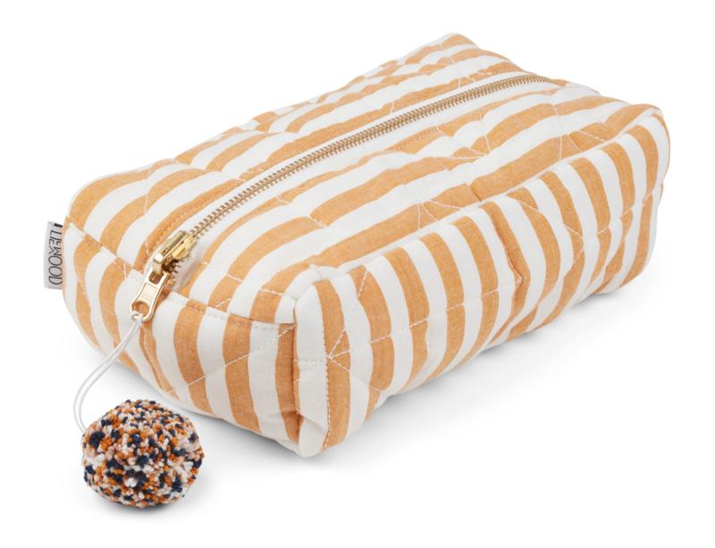 Beate toiletry bag stripe mustard - Liewood