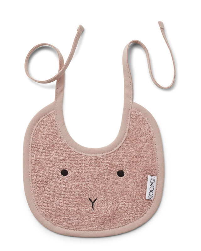 Lilja bib 2pack rabbit rose - Liewood