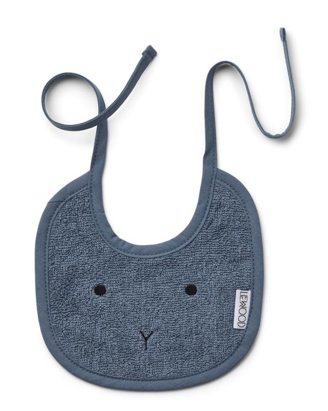 Lilja bib 2pack rabbit blue wave - Liewood