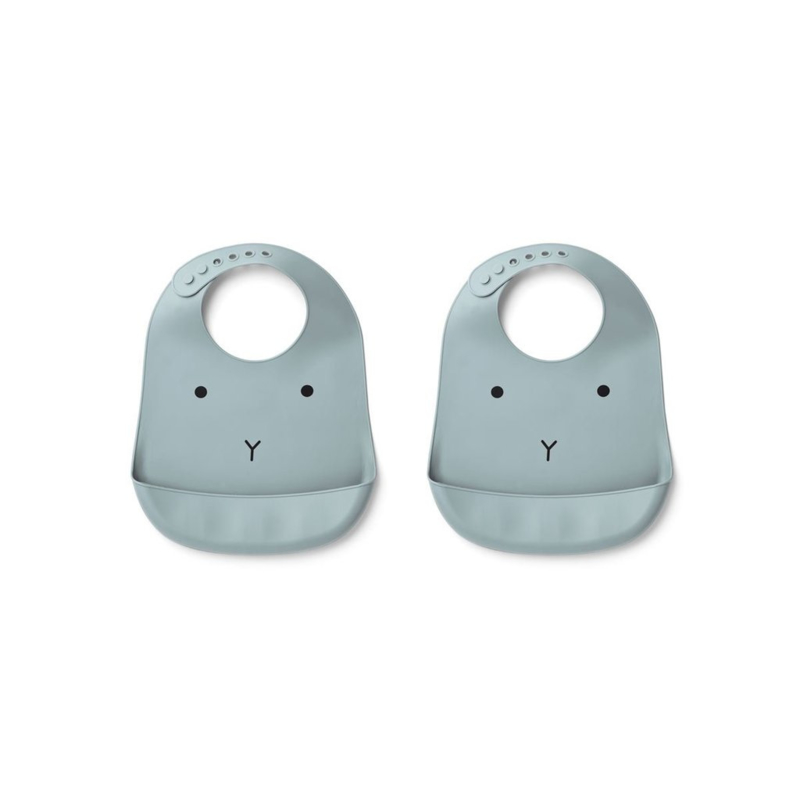 Tilda siliconen slab 2 pack rabbit sea blue - liewood