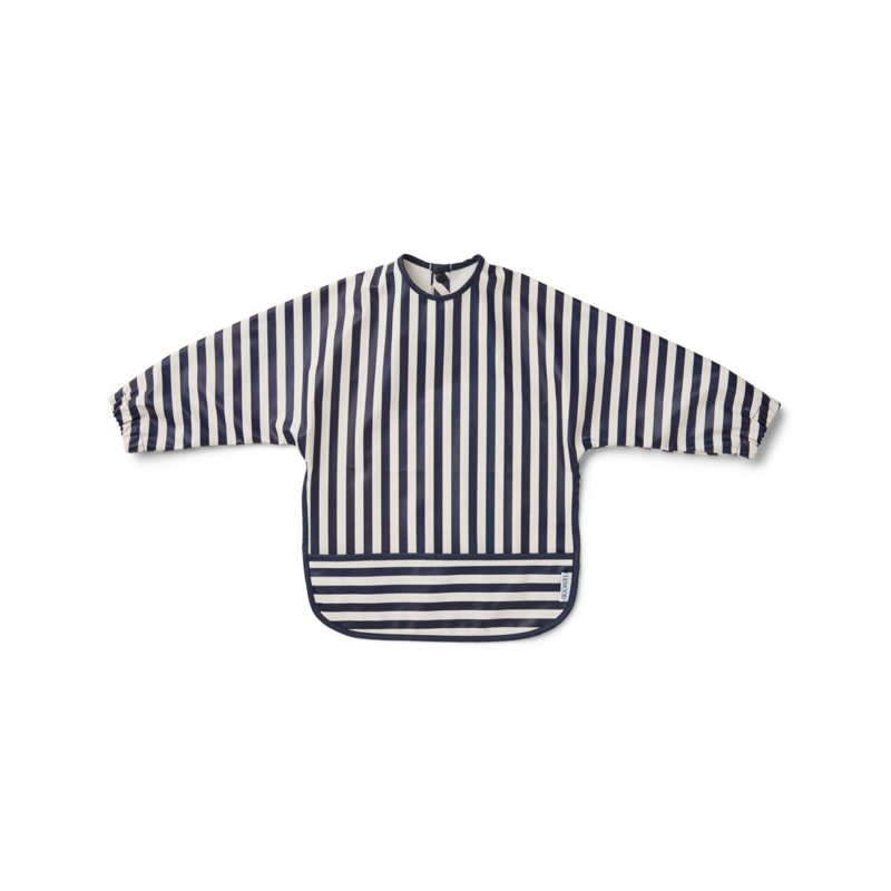 Merle cape bib navy stripes - Liewood