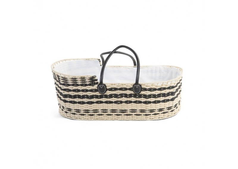 Moses basket natural/anthracite (mattress incl.) - Childhome