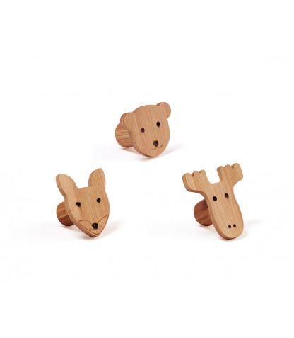 Kids concept - bamboo animal hooks