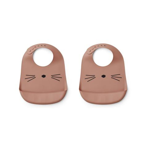 Tilda siliconen slab 2 pack cat dark rose - liewood
