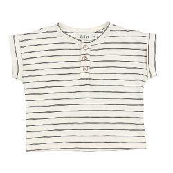T-shirt graphite stripes