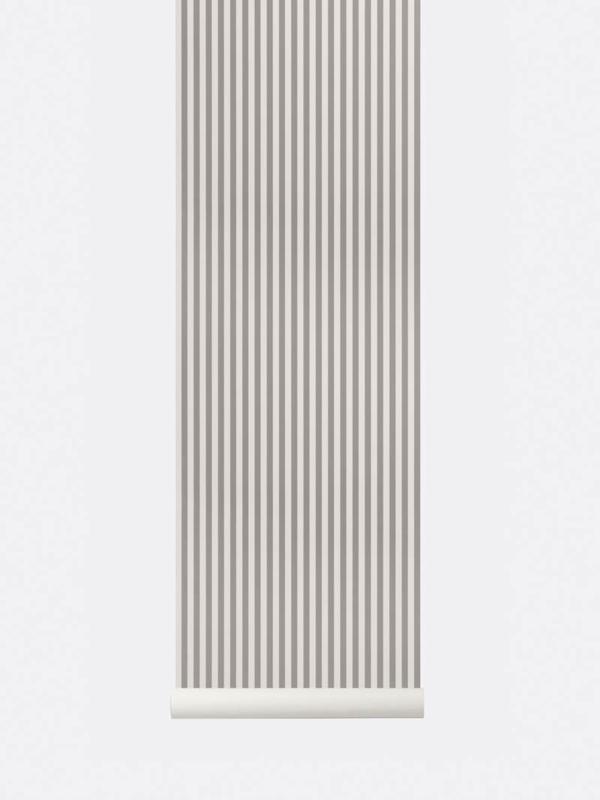 Behangpapier lines grey/ of white