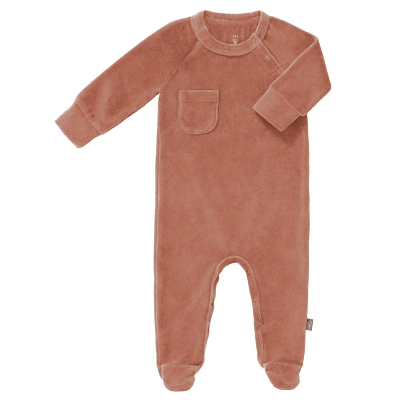 Playsuit velours with feet  - fresk