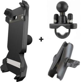 Lynx houder + draadloze oplader kit voor fietsen / mountain bikes / motoren