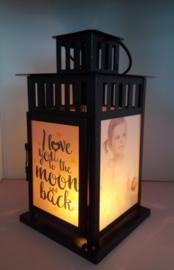 Foto lantaarn zwart