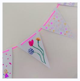 papieren vlaggenlijn