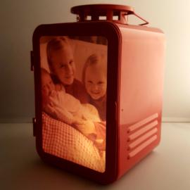 Vintage foto lantaarn rood