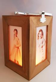 Foto lantaarn hout