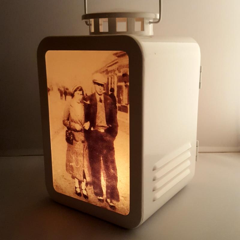 Vitage foto lantaarn wit