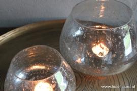 Glazen sfeerlichtje bubbels L