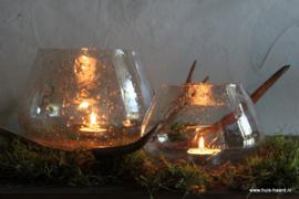 Glazen sfeerlichtje bubbels S