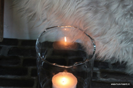 Windlicht met geschulpte rand