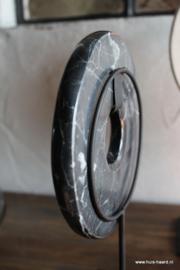Marmer disc zwart L