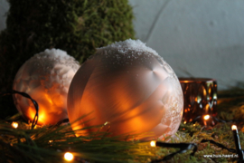 Kerstbal karamel S (8 cm)