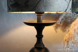 Lampenvoet mat zwart
