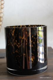 Sfeerlicht bruin glas print