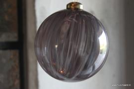 Kerstbal grijs S (8 cm)