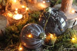 Kerstbal grijs L (10 cm)