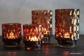 Sfeerlicht bruin glas S