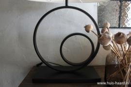 Lampenvoet cirkel dubbel zwart