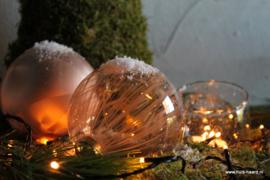 Kerstbal karamel L (10 cm)