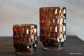 Sfeerlicht bruin glas M