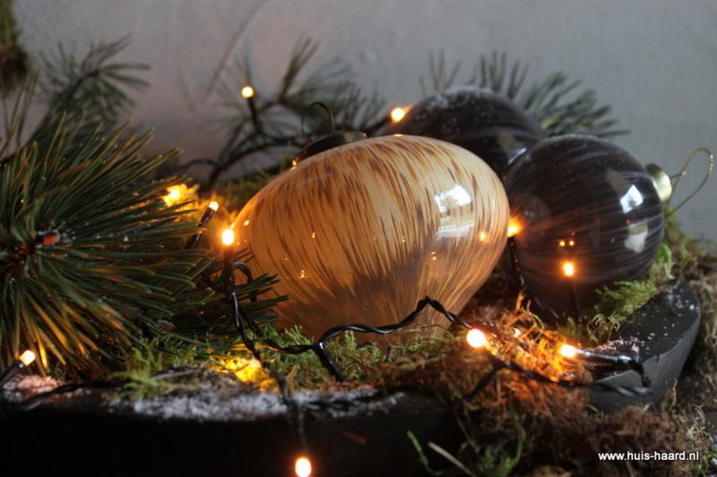 Kerstbal marmerlook