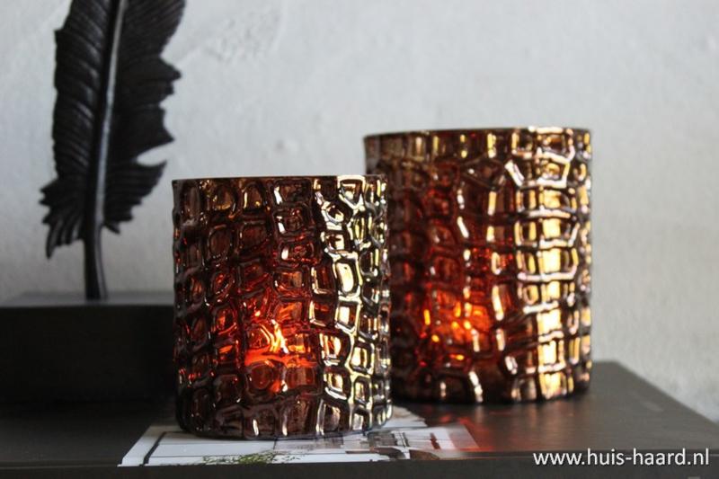 Sfeerlicht brons glas S