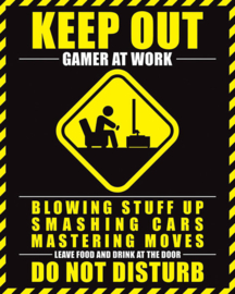 Gamer at Work Poster Keep Out (40x50cm) - Pyramid International