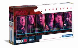Stranger Things Puzzle Panorama Characters (1000 stukjes) - Clementoni [Nieuw]