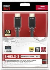High Speed HDMI Kabel 2meter (Zwart) - Speedlink [Nieuw]