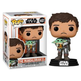 Star Wars The Mandalorian Funko Pop The Mandalorian with Grogu #461 [Pre-Order]