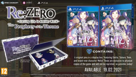 PS4 Re ZERO Starting Life in Another World The Prophecy of the Throne Day One Edition [Nieuw]