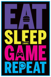 Eat Sleep Game Repeat Poster (61x91cm) - Pyramid International