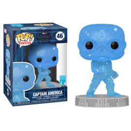 Marvel The Infinity Saga Artist Series Funko Pop Captain America (Blue) #046 [Pre-Order]