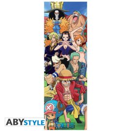 Deur Poster One Piece Luffy's Crew (53x158)